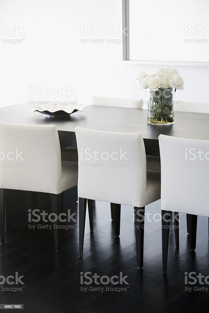 Interior of modern dining room royalty-free stock photo