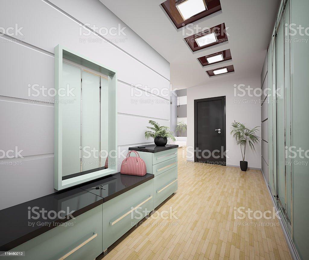 Hall D Entrée Moderne photo libre de droit de intérieur de la 3d moderne hall