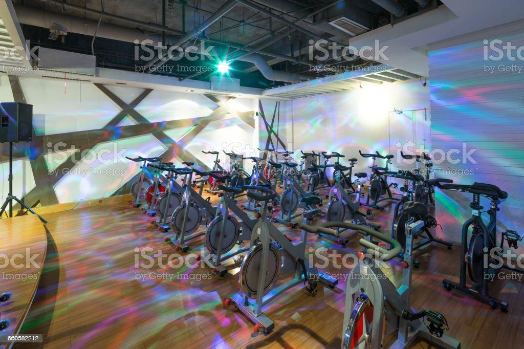 interior of modern gym royalty-free stock photo