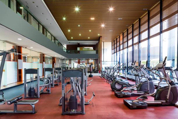 interior of modern gym stock photo