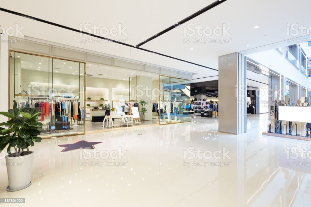 interior of modern hallway stock photo