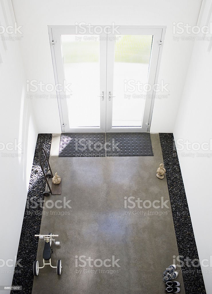 Interior of modern house, entrance 免版稅 stock photo