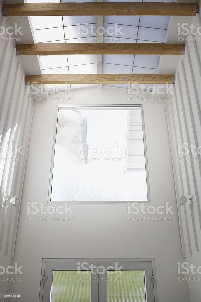 Interior of modern house, entrance, skylight royalty-free stock photo