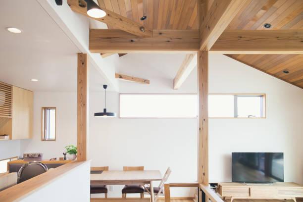 Interior da casa moderna - foto de acervo