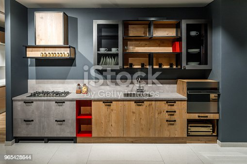 Interior Of Modern Kitchen With Stylish Design Stock Photo & More Pictures of Appliance