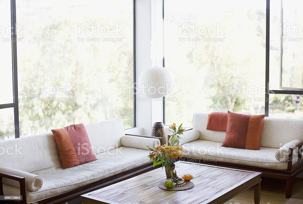 Interior of modern living room royalty-free stock photo