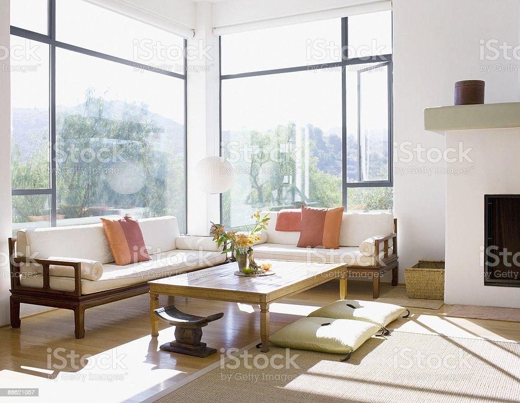 Interior moderno de sala de estar - foto de stock