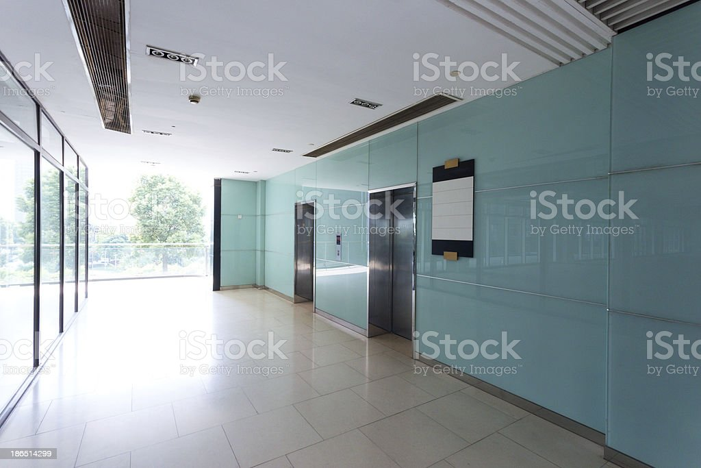 interior of modern office building royalty-free stock photo
