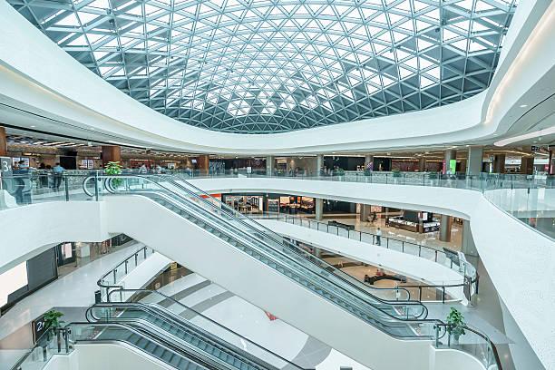 interior of modern shopping mall stock photo
