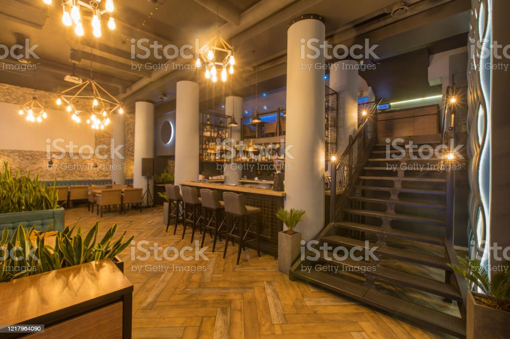 Interior Of Modern Urban Cafe Or Restaurant Interior Stock Photo Download Image Now Istock