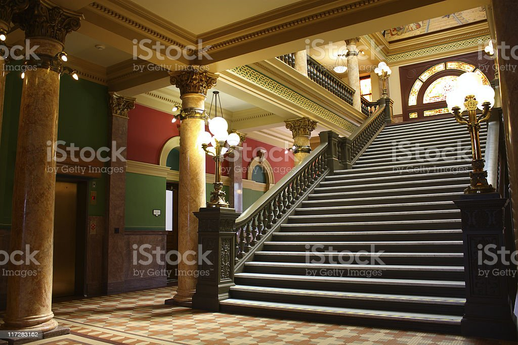Interior of Montana State Capitol Building royalty-free stock photo