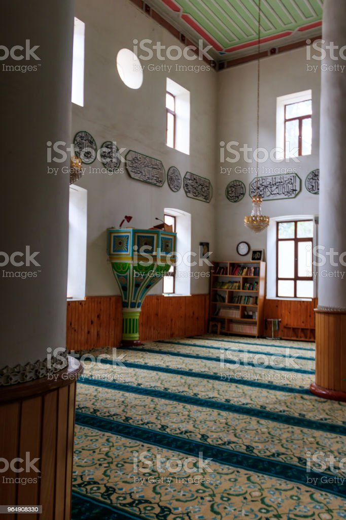 Interior of Mosque Orta Jame in Batumi, Georgia royalty-free stock photo