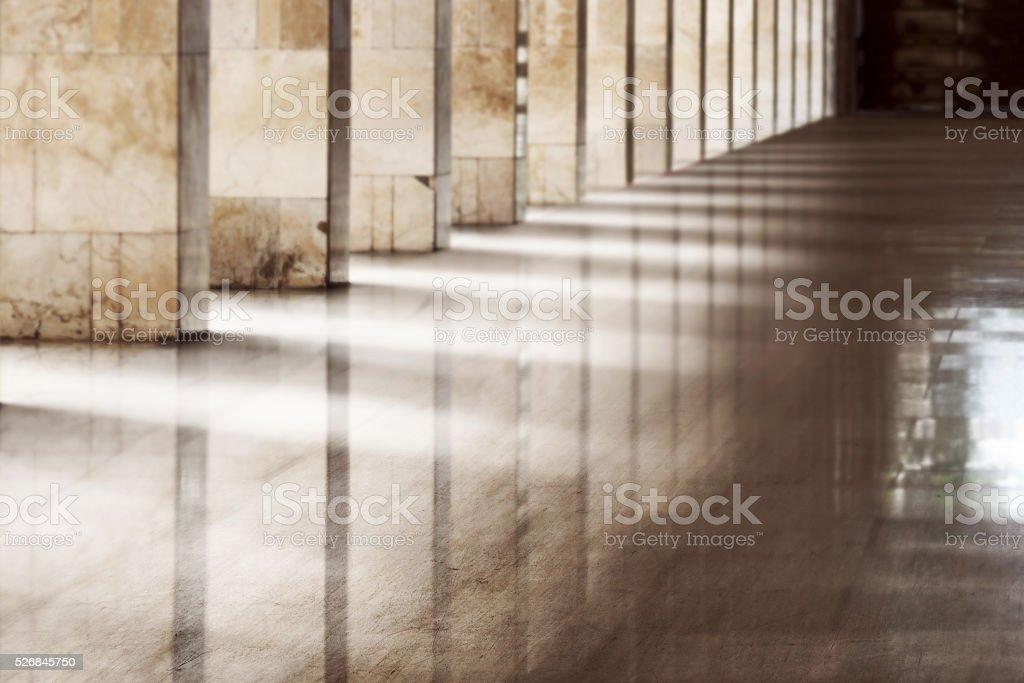 Interior of mosque stock photo