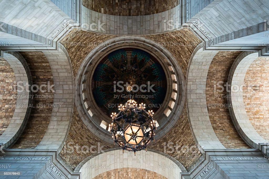 Interior of Nebraska State Capitol stock photo