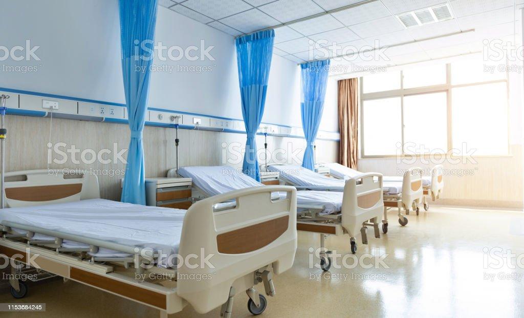 新しい空の病院の部屋のインテリア - からっぽのロイヤリティフリーストックフォト