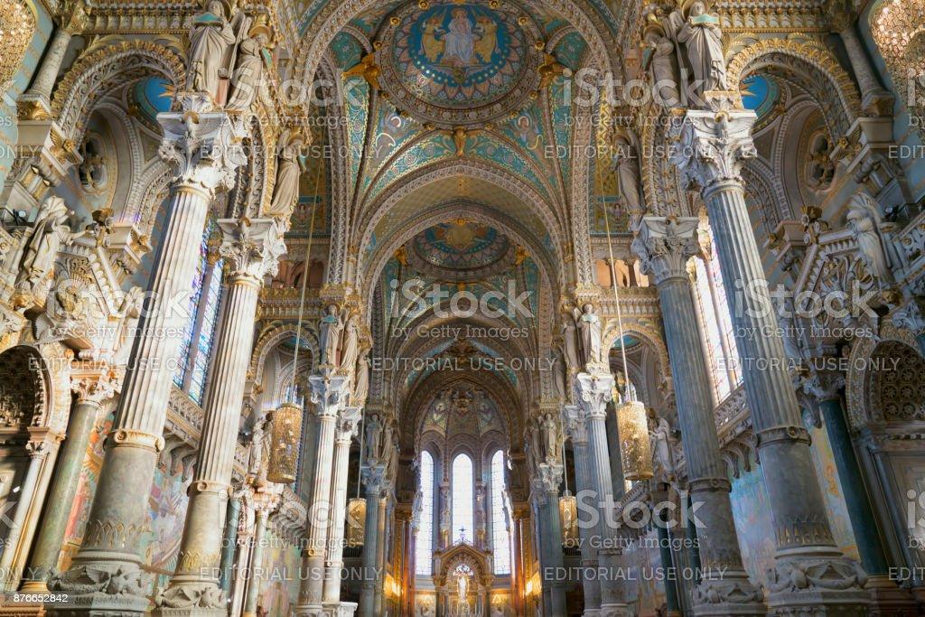 Intérieur de la Basilique Notre-Dame de Fourvière - Photo