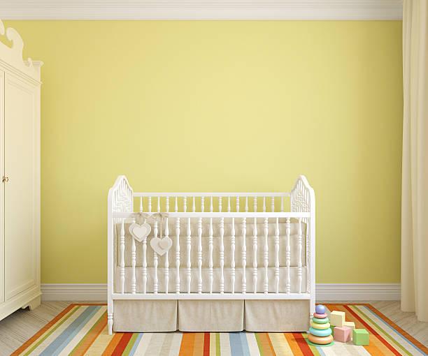 Interior of nursery. 3d rendering. stock photo