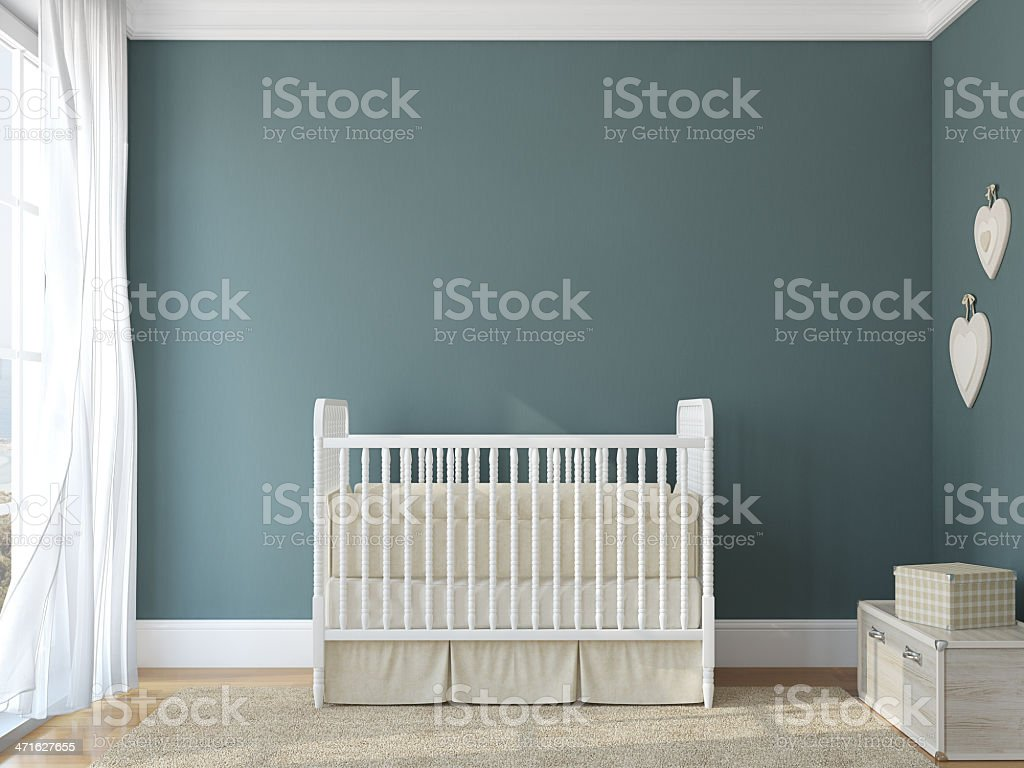 Interior of nursery. stock photo