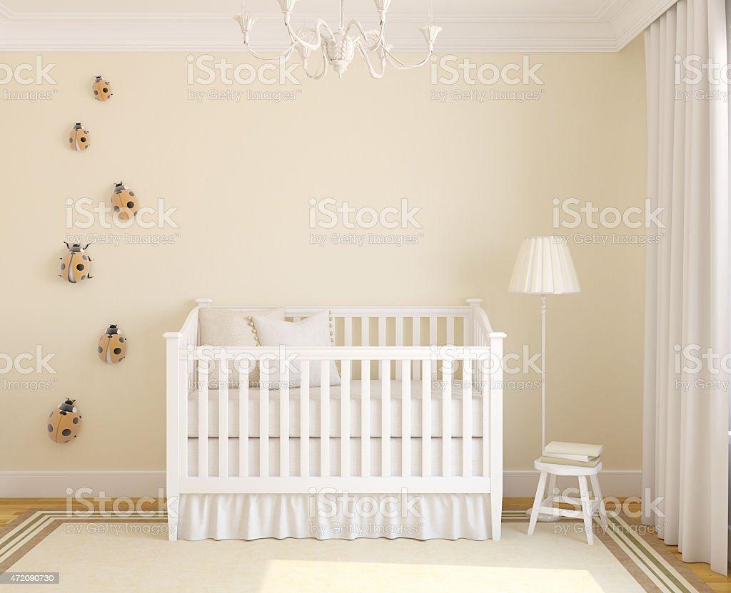 Interior of nursery. stok fotoğrafı