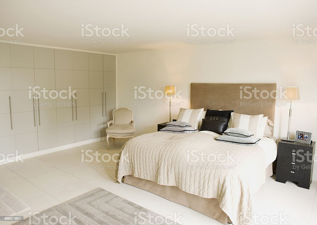 Interior Of Offwhite Modern Bedroom Stock Photo Download Image Now Istock