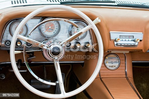 467735055istockphoto Interior of Old American Car 997942036