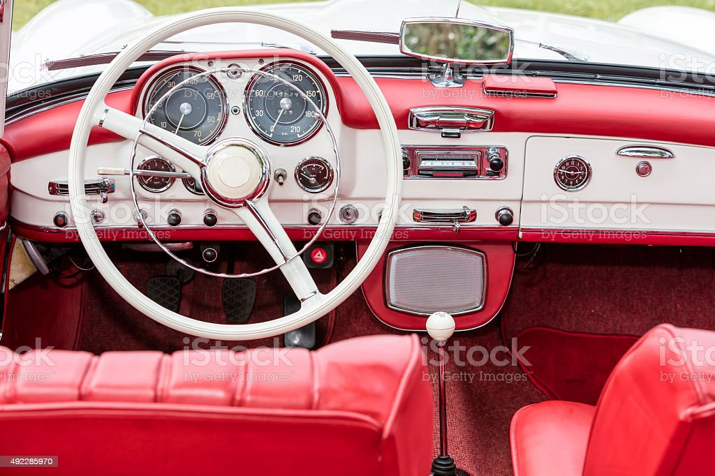 Interior Of Old Car Stock Photo More Pictures Of 2015 Istock