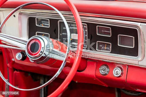 467735055istockphoto Interior of Old Car 607270434