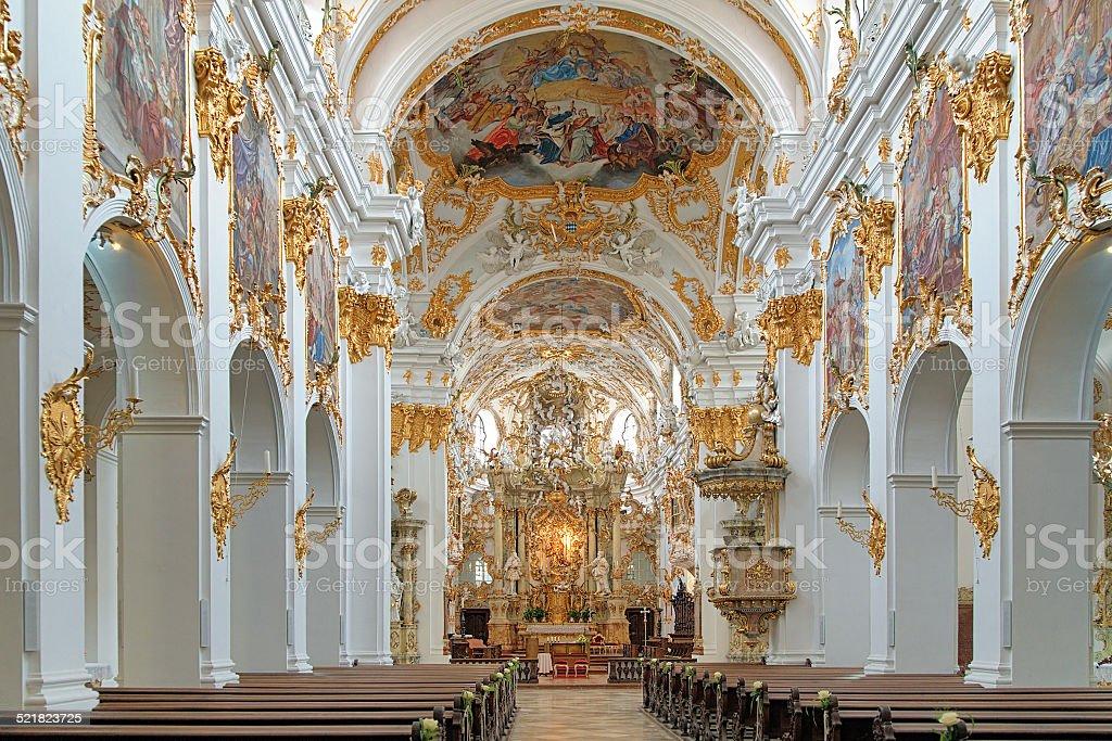 Interior of Old Chapel in Regensburg, Germany stock photo