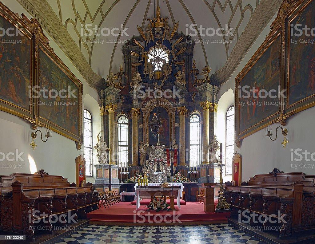 古い教会のインテリア - キリスト教のロイヤリティフリーストックフォト