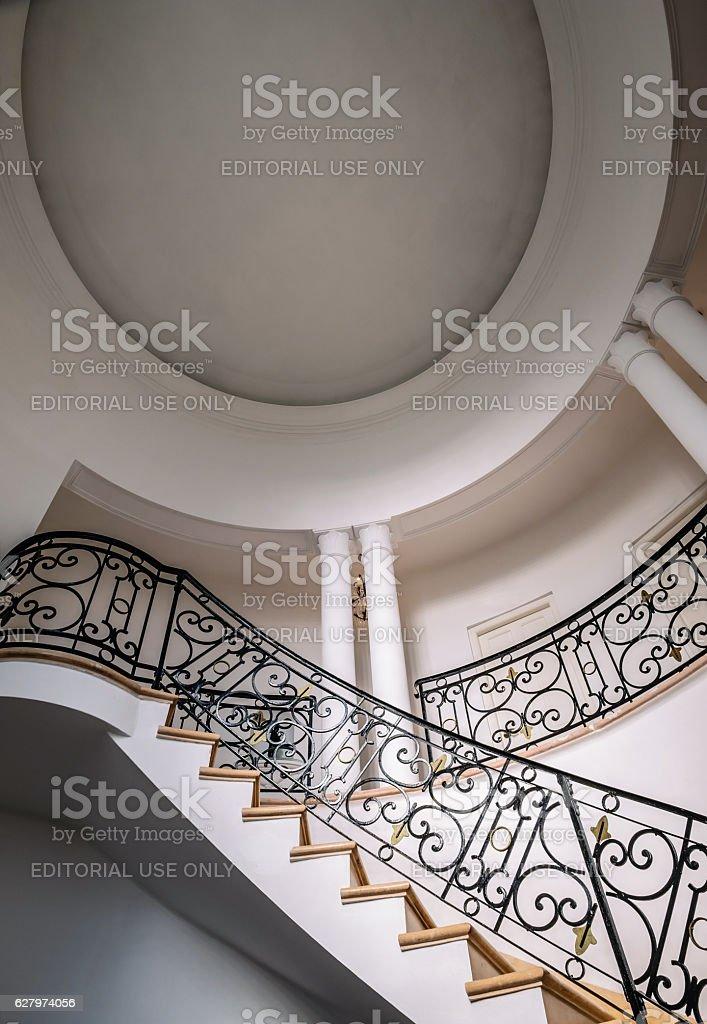 Interior of Old Havana Villa stock photo