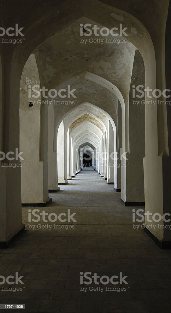 Interior of old mosque royalty-free stock photo