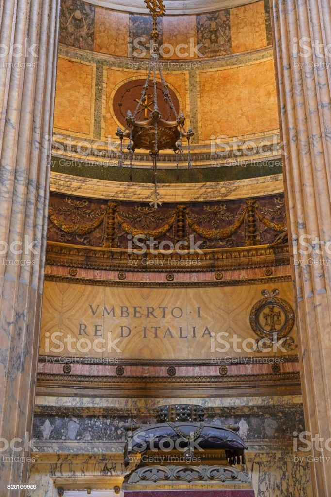 Interior of Pantheon in Rome, Italy stock photo