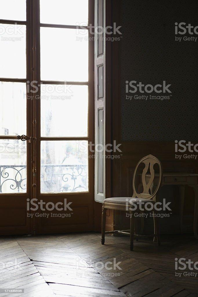 Interior of Parisian stately home stock photo