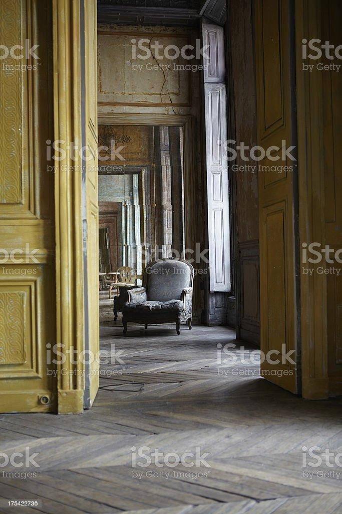 Interior of Parisian stately home royalty-free stock photo