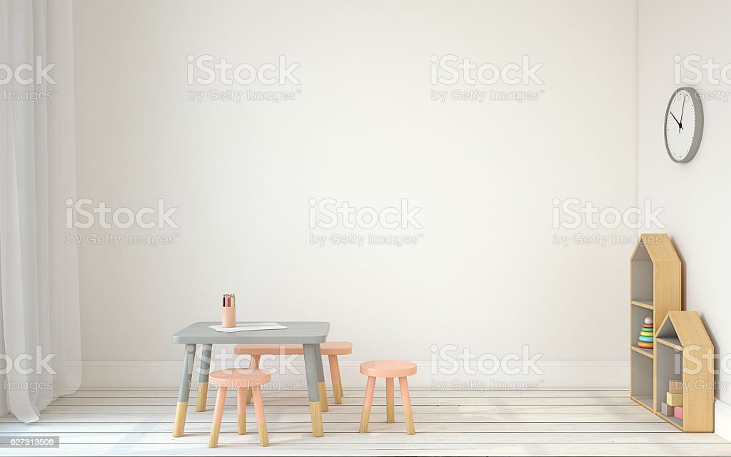 Interior of playroom. 3d render. stock photo
