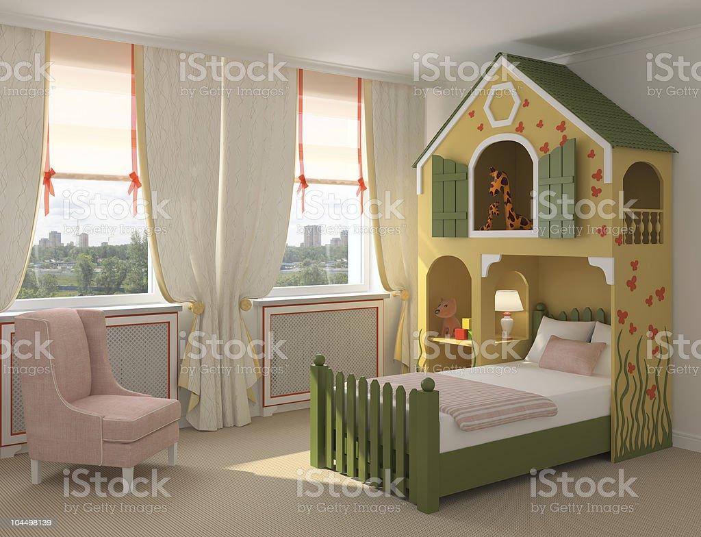 Interior of playroom. royalty-free stock photo