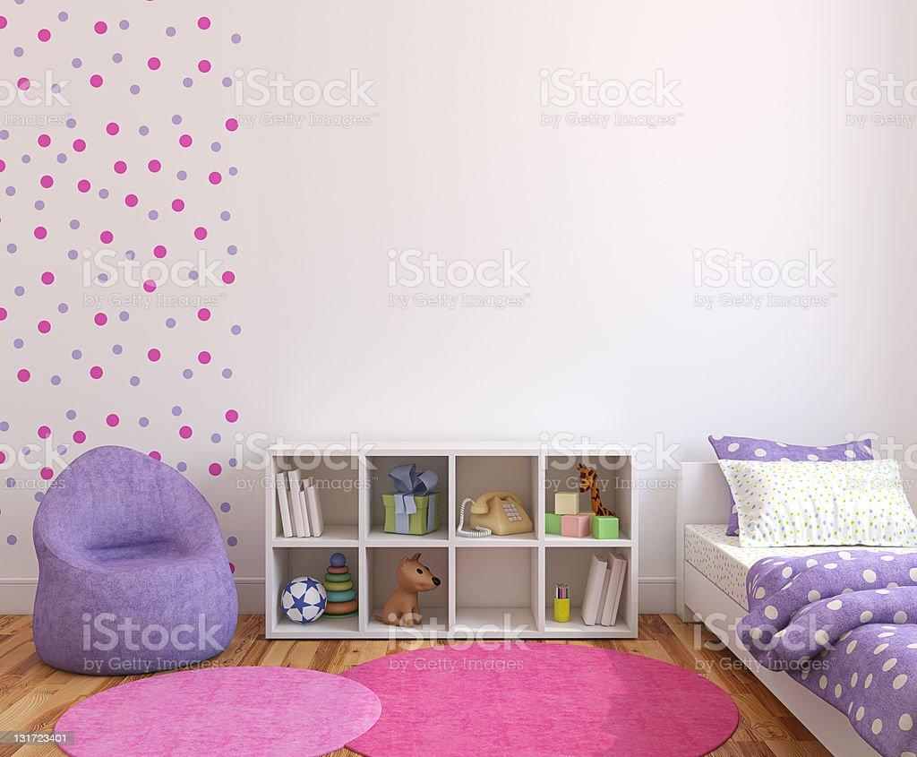 Interior of playroom. stock photo