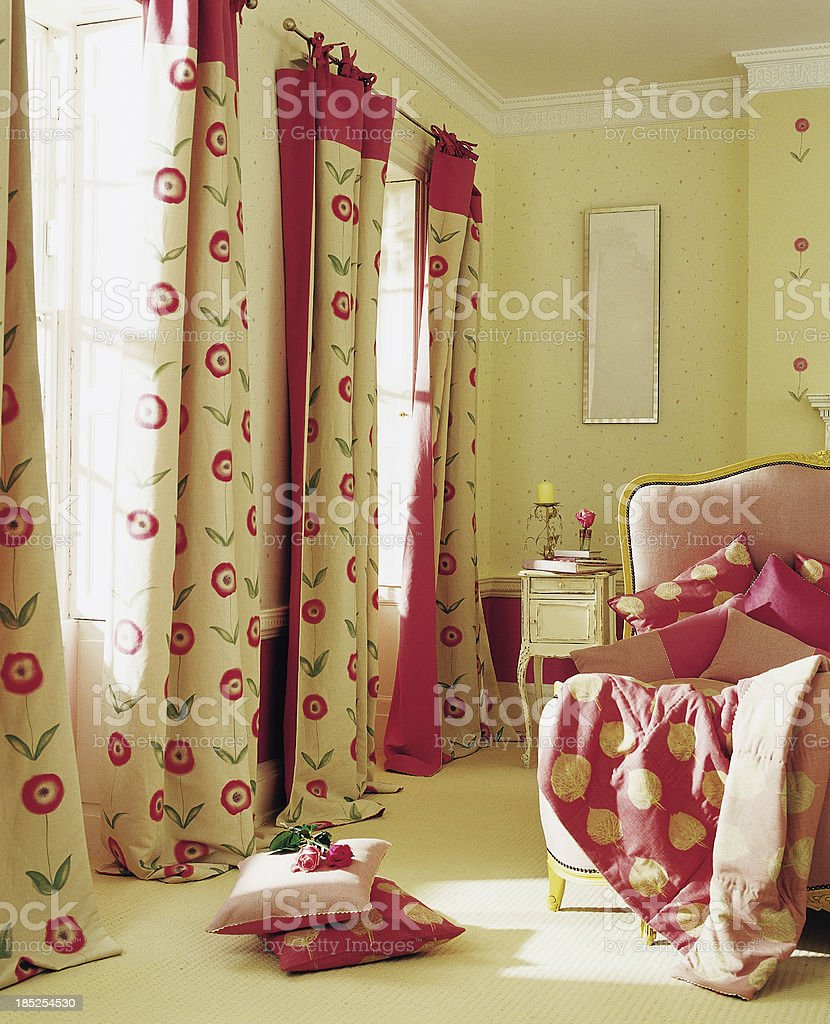 Interior of pretty bedroom royalty-free stock photo