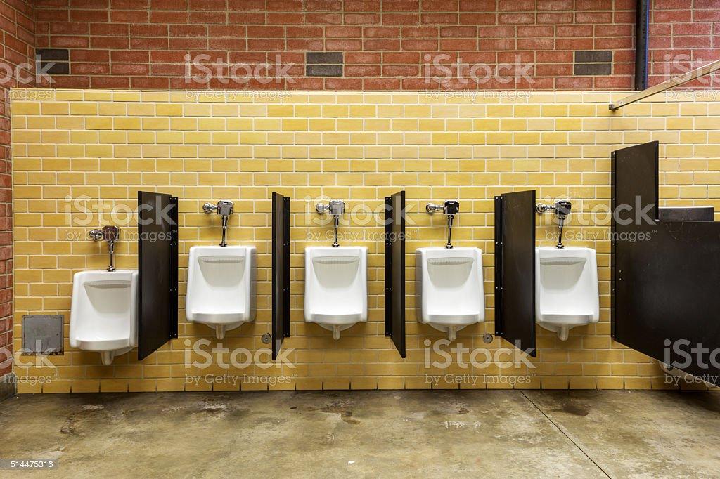 interior of public restroom in seattle stock photo
