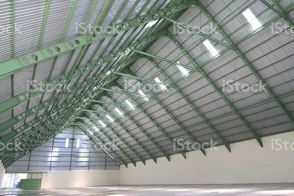 Interior of raw sugar storage room royalty-free stock photo