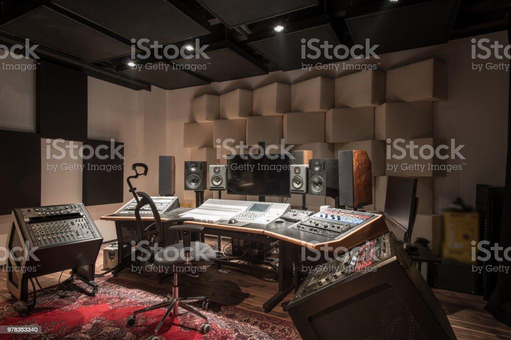 Innenraum der Aufnahme Studio-Steuerpult – Foto