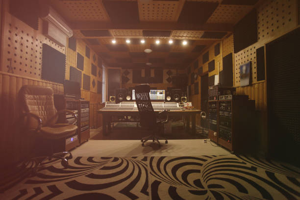 Interior of recording studio Interior of recording studio producer stock pictures, royalty-free photos & images