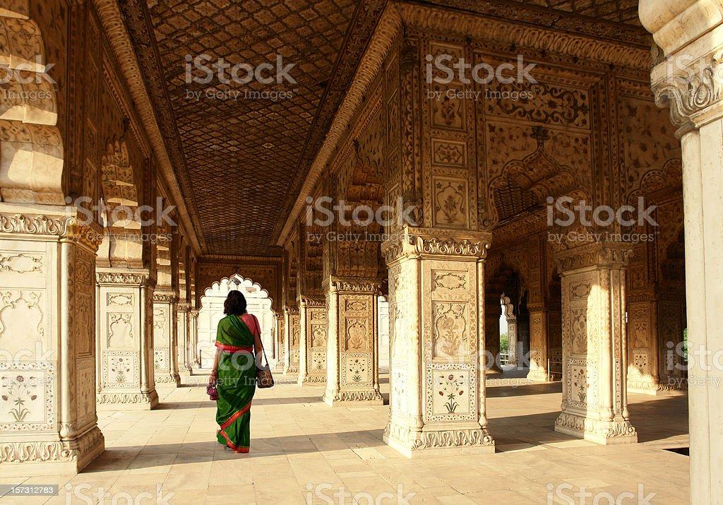 Interior of Red Fort, Delhi, India stock photo