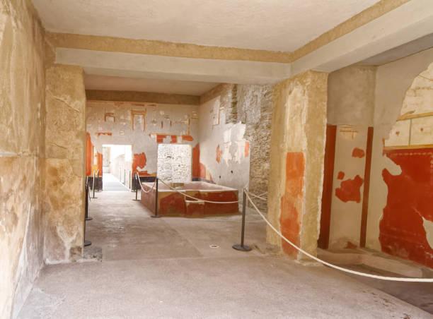 Innere des römischen Villa Pompeji mit Wasserspiel. – Foto