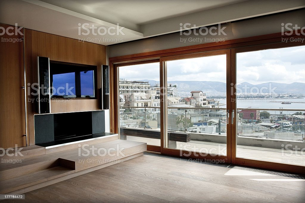 interior of  room with a view royalty-free stock photo