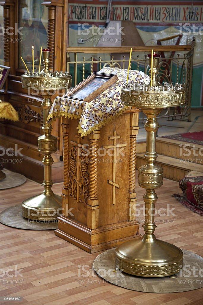 Interior of russian church royalty-free stock photo