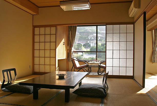 Interior Of Ryokan stock photo