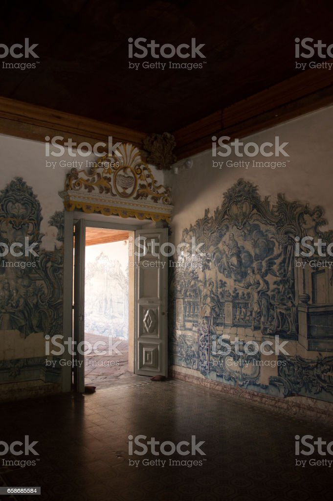 Interior of Saint Francis of Assisi Convent Olinda Brazil stock photo