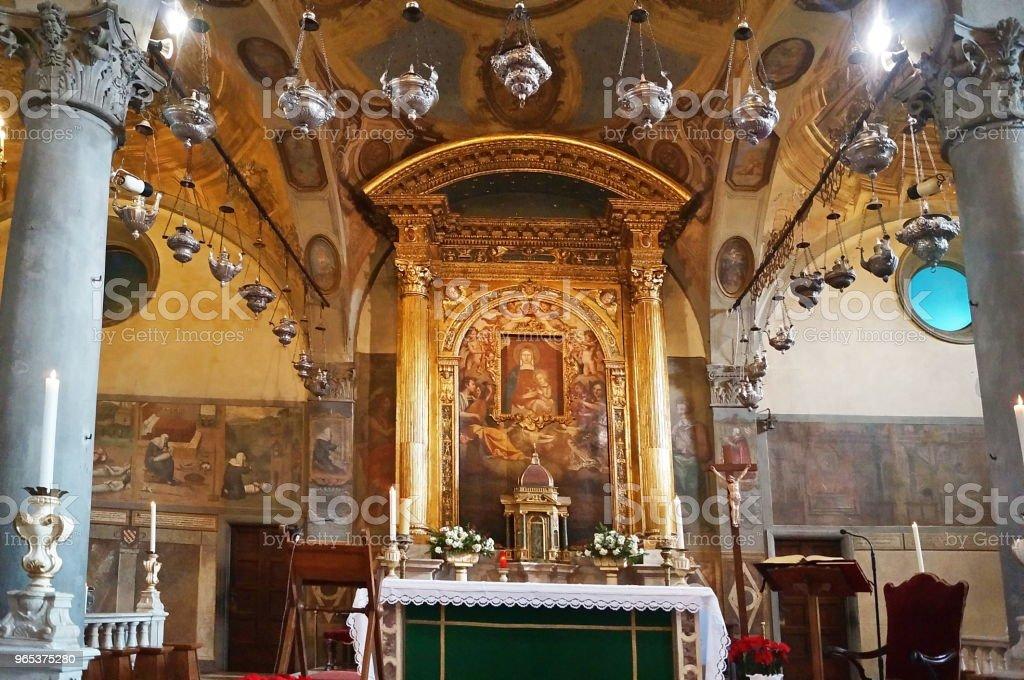 Interior of Santa Maria delle Grazie basilisa, San Giovanni Valdarno royalty-free stock photo