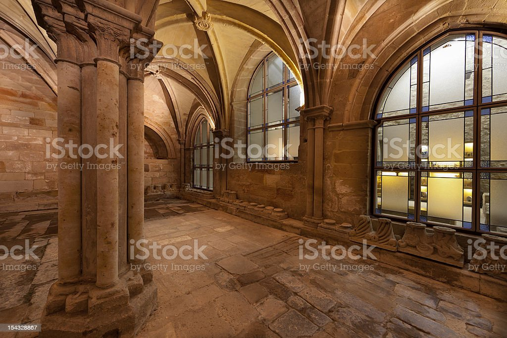 Interior of Santa Maria la Real monastery (Palencia,Spain) stock photo